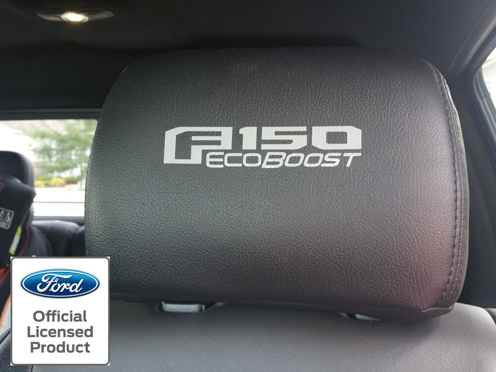 2016 Ford F150 Accessories >> NEW 2015-2016 FORD F-150 ECOBOOST HEADREST DECALS VINYL STICKERS LEATHER SEATS | eBay