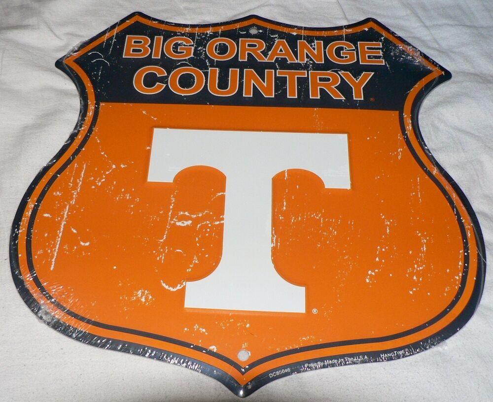 Man Cave Jackson Tennessee : Tennessee vols quot big orange country shield sign man cave
