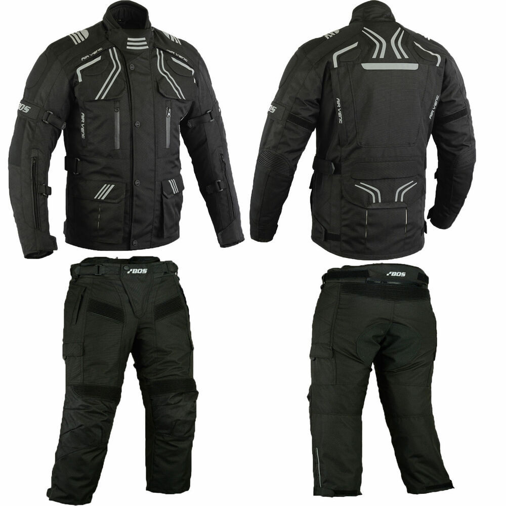 motorradkombi 2 teiler jacke mit hose cordura textil kombi. Black Bedroom Furniture Sets. Home Design Ideas