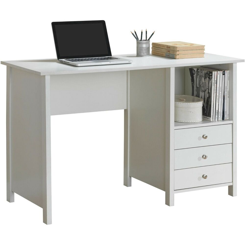 New Home Office Computer Writing Desk With Drawer Storage
