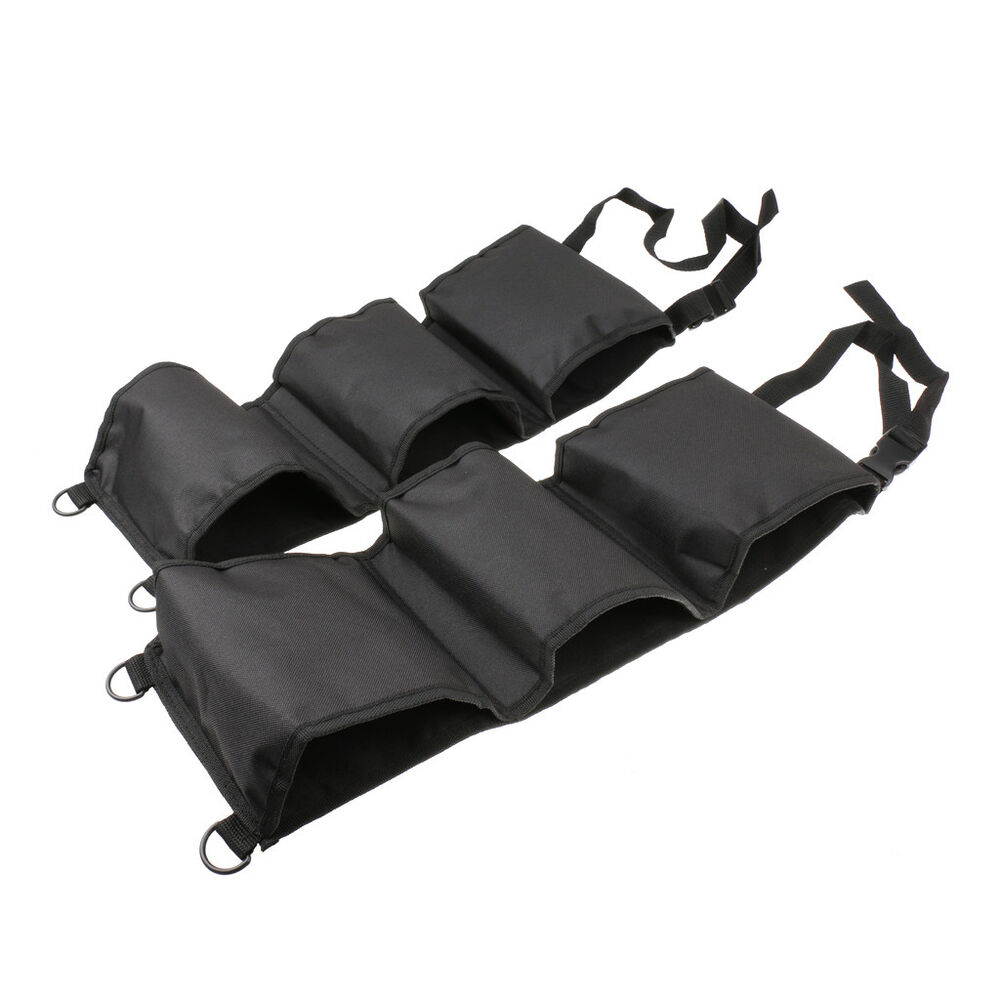 2pcs car seat back rifle gun rack pick up organizer sling bag black ebay. Black Bedroom Furniture Sets. Home Design Ideas