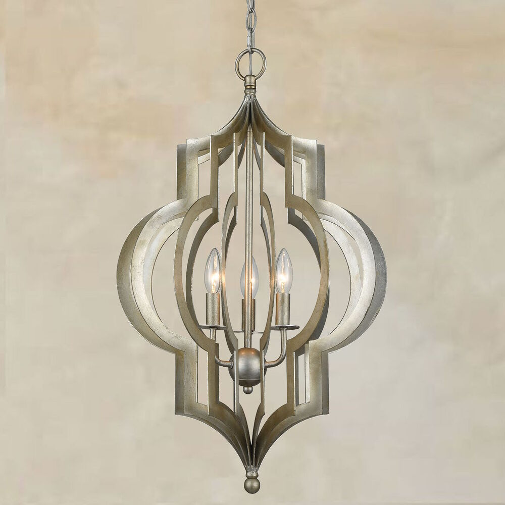 New Tuscan Large 28 Quot Silver Iron Pendant Chandelier