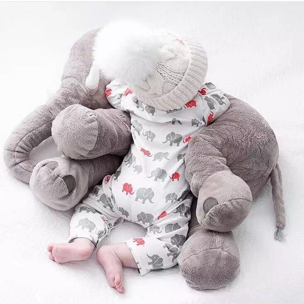 Baby Plush Toys : Cm long baby soft plush elephant sleep pillow kids