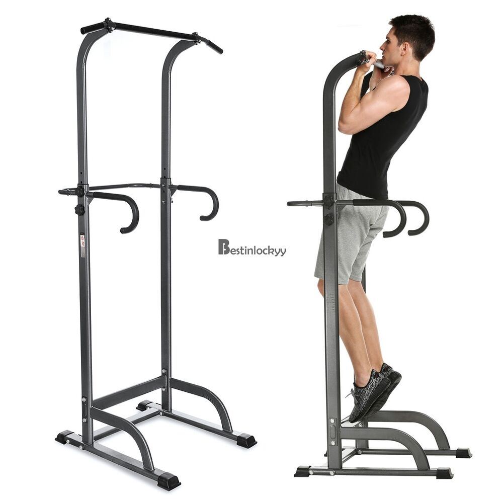Chin Up Bar Crivit: New Chin Up Stand Pull Up Bar Dip Power Tower Home Gym