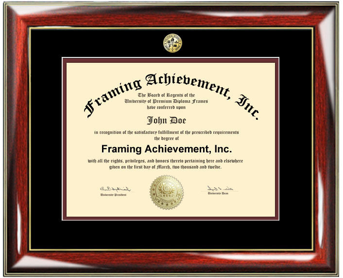 university diploma frame college major seal graduation certificate degree plaque