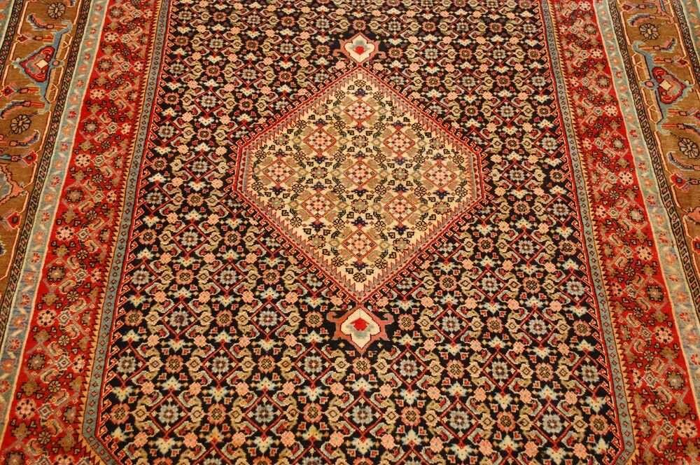 Circa 1930s Antique Persian Bijar Rug 5x8 Camel Hair