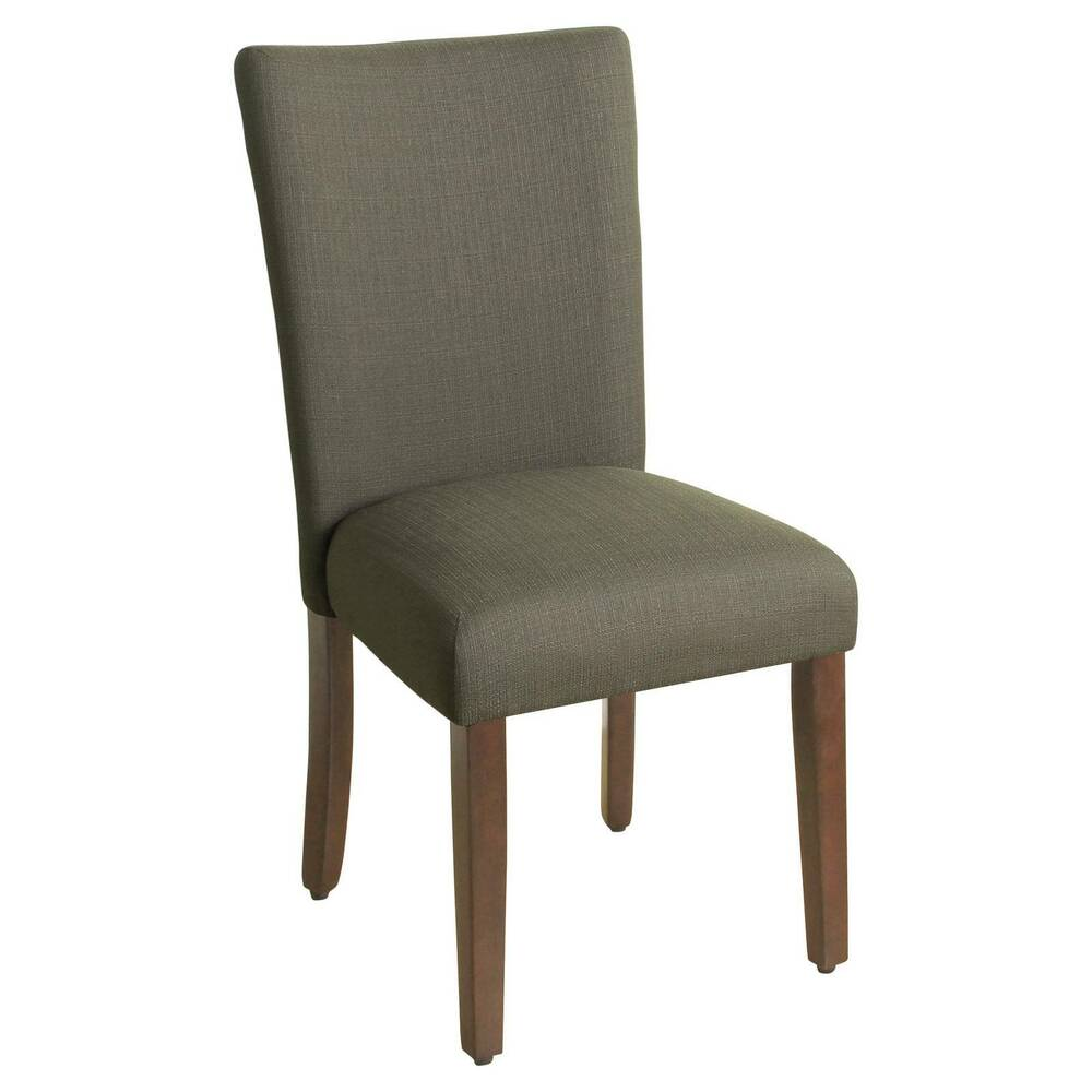 Parsons chair with espresso leg homepop ebay for Low back parsons dining chair