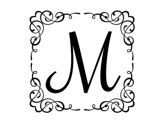 Personalized Family Name Initial Wall Decal Monogram 20