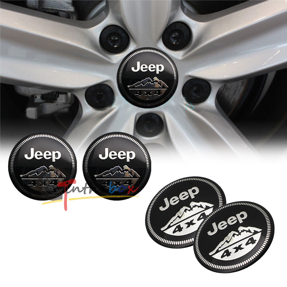 Ford Racing Decal 4PCS 56.5mm Jeep 4x4 Mountain Aluminum Car Wheel Center ...
