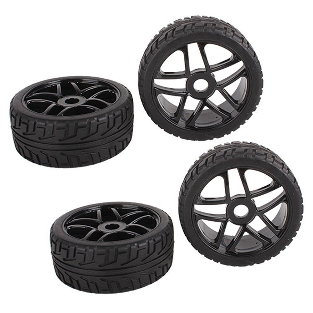 4pcs RC 1/8 On Road Buggy Tires Hex 17mm Wheels For Redcat