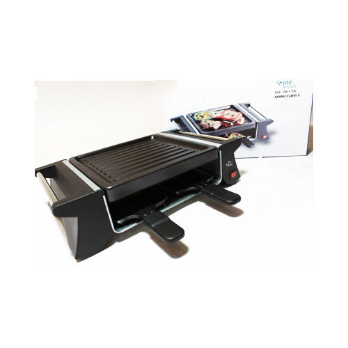 mini grill 500w serves 4 persons with 4 non stick small. Black Bedroom Furniture Sets. Home Design Ideas