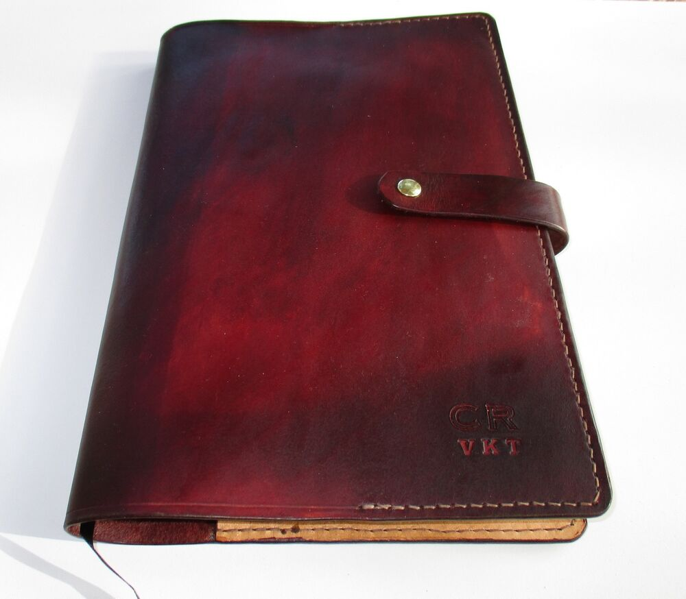 Leather Book Cover Ideas ~ Personalized leather journal diary book cover a ebay