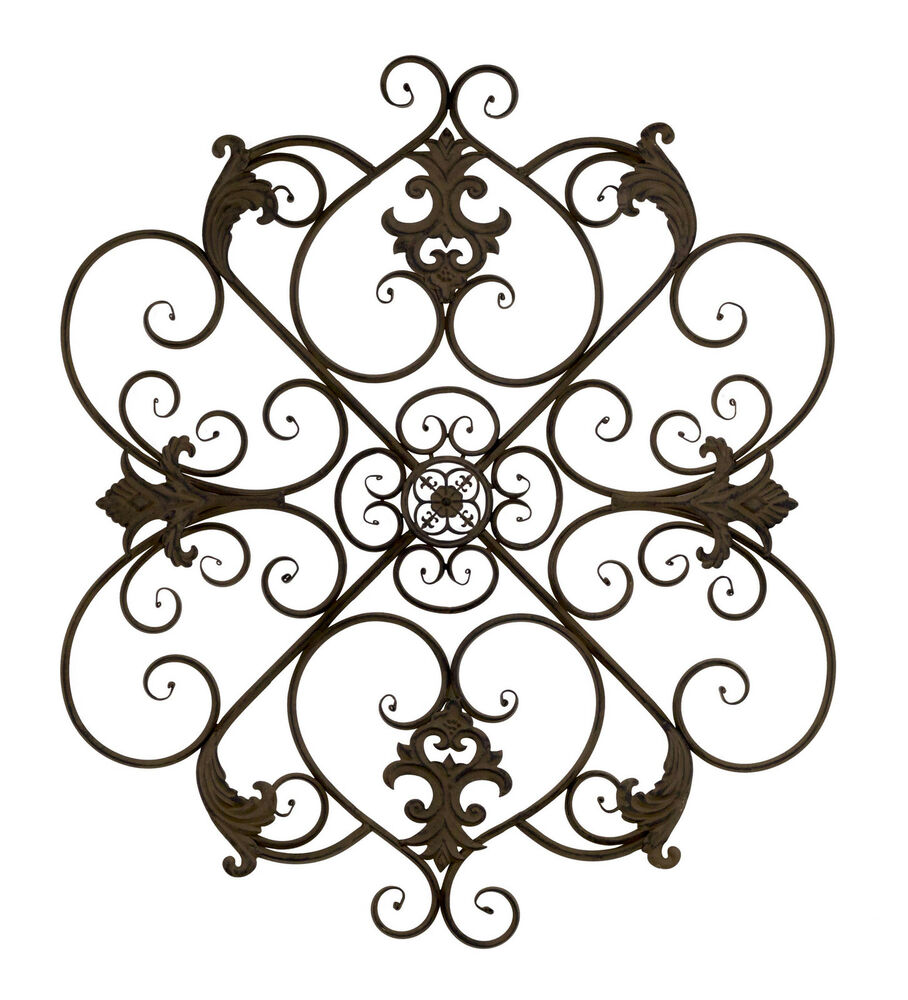 Bay Accents Wrought Iron Fleur De Lis Wall Decor Ebay