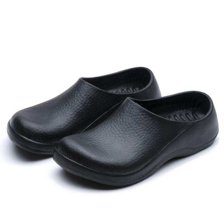 Men Chef Shoes In Kitchen Nonslip Safety Shoes Oil & Water