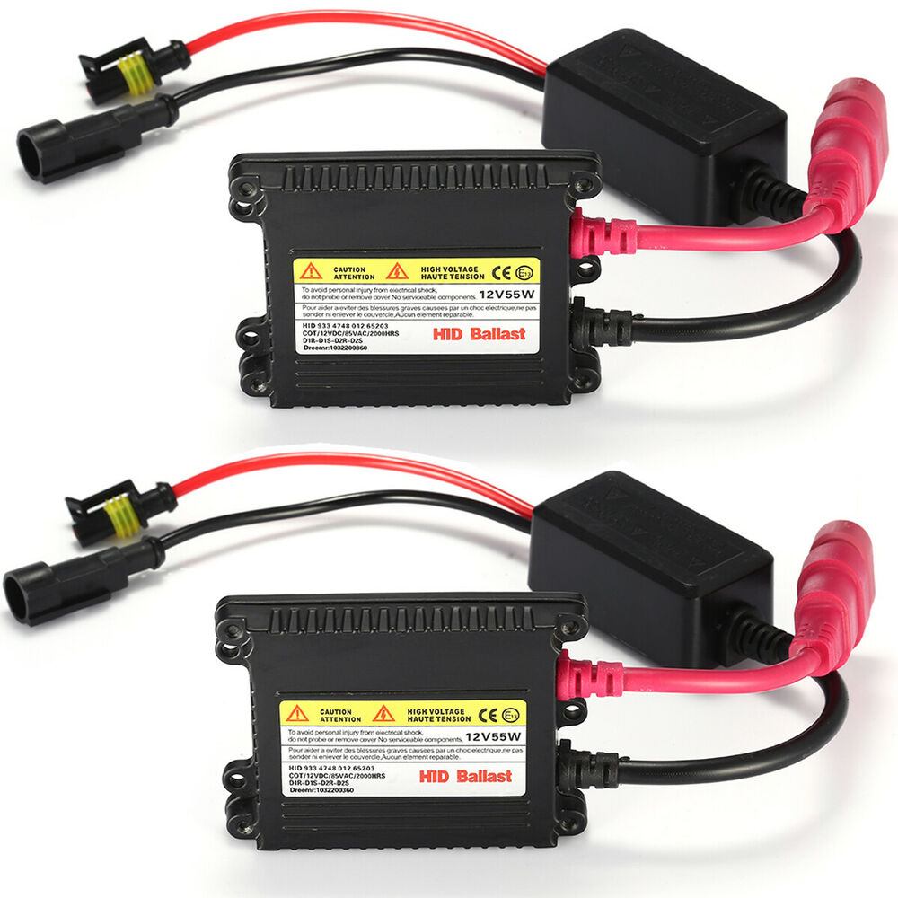Slimline Ballast Wiring Diagram: 2x 55W Watt DC Digital Slim HID Replacement Ballast Xenon