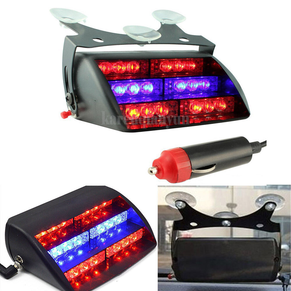 18 Led Car Police Strobe Warning Light Dash Emergency 3