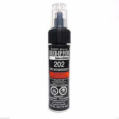 GENUINE TOYOTA TOUCH UP PAINT WITH BRUSH 202 BLACK ONYX OEM NEW
