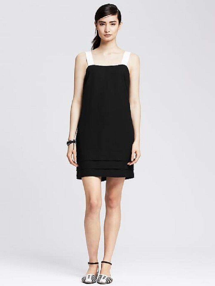 Banana Republic Womens Grosgrain Strap Dress 14000 New With Tags 0