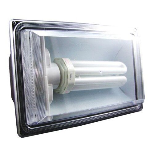 Outside Halogen Wall Lights : Wall Mount 65W Fluorescent Outdoor Security Flood Light = 500 Halogen - Bronze eBay