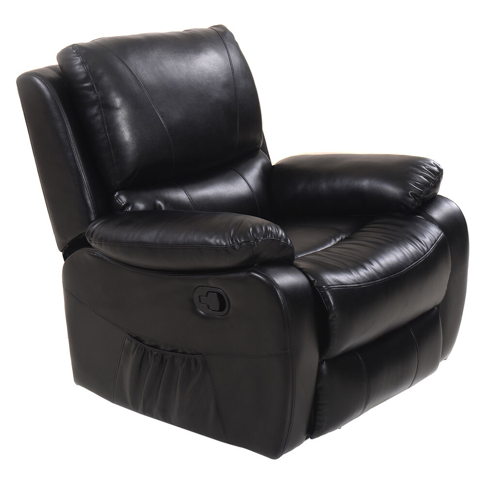 Ergonomic Deluxe Recliner Massage Sofa Chair Lounge Executive Heated w Contr