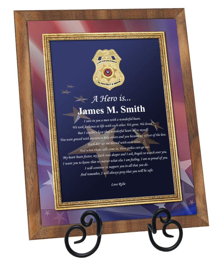 Law Enforcement Police Officer Sheriff Deputy Gift Poetry