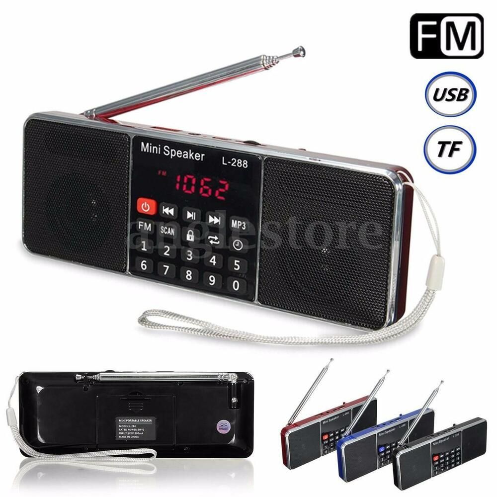 portable mini speaker fm radio stereo usb micro sd tf card aux mp3 media player ebay. Black Bedroom Furniture Sets. Home Design Ideas