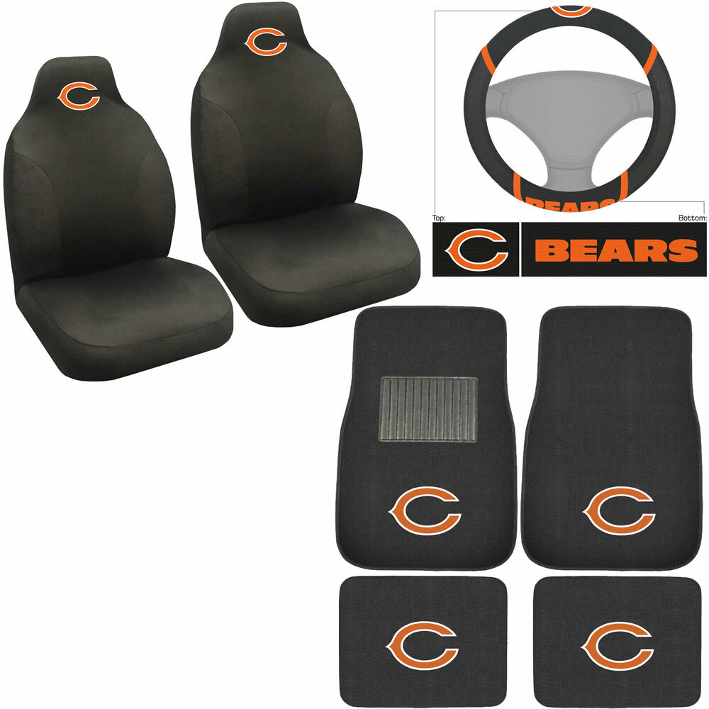 Nfl Chicago Bears Car Truck Seat Covers Floor Mats