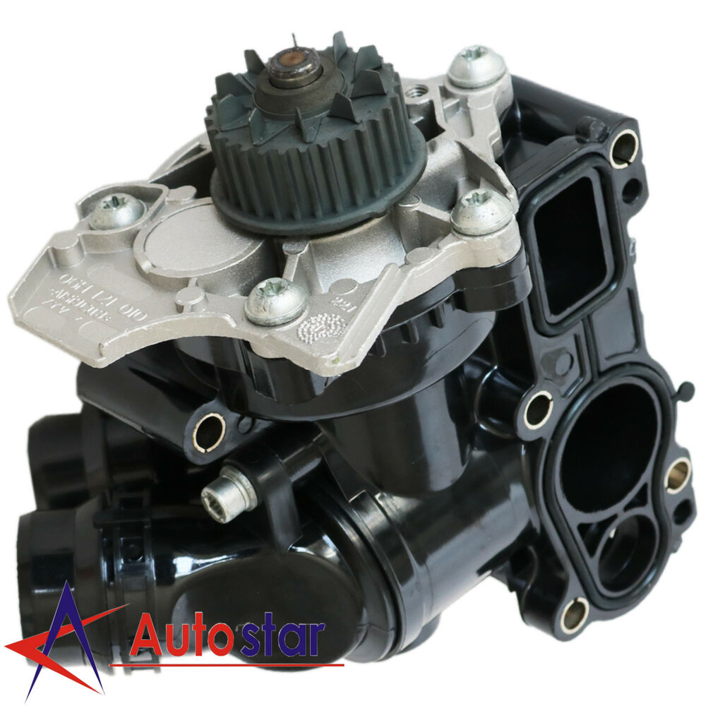 new water pump thermostat assembly for audi a4 vw golf. Black Bedroom Furniture Sets. Home Design Ideas