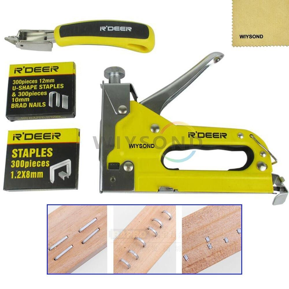 Heavy Duty Hand 3 In 1 Staple Gun Wood With Staples Vs