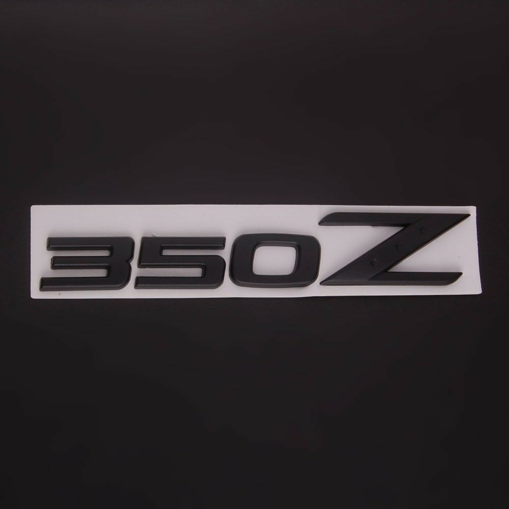 Black Car Auto 350Z Aluminum Emblem Badge Stickers For