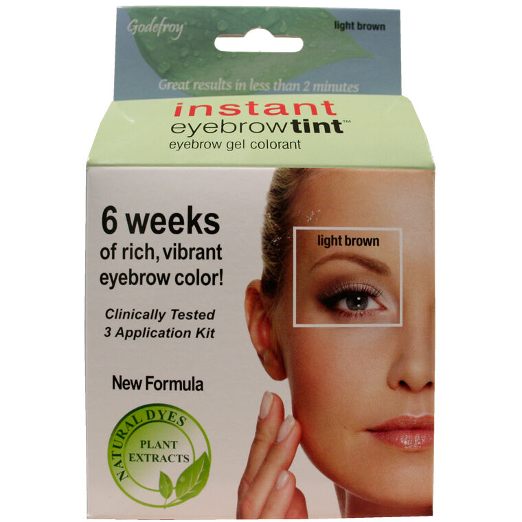 Godefroy Instant Eyebrow Tint Botanical Light Brown Application Kit