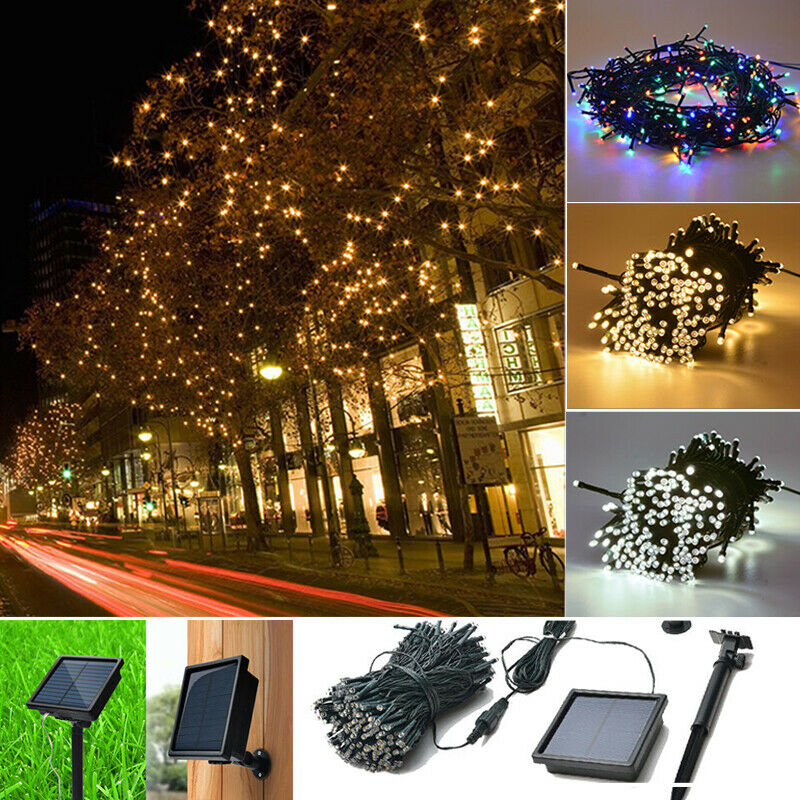 Outdoor Party Lights Screwfix: 200/300 LED String Fairy Light Solar Powered Xmas Party