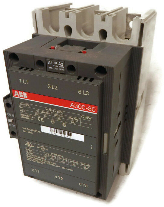 abb a300 30 3 phase contactor 1000v 500a 500 amp 1000v w. Black Bedroom Furniture Sets. Home Design Ideas