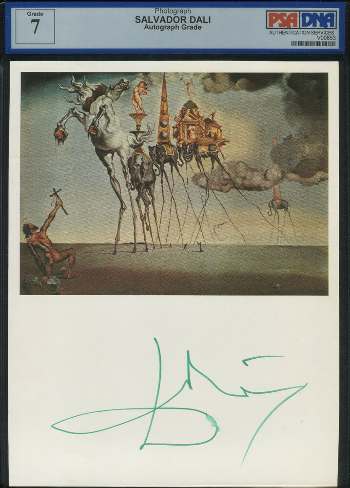 Salvador Dali Signed Autographed 8x10 PSA/DNA AUTHENTIC | eBay