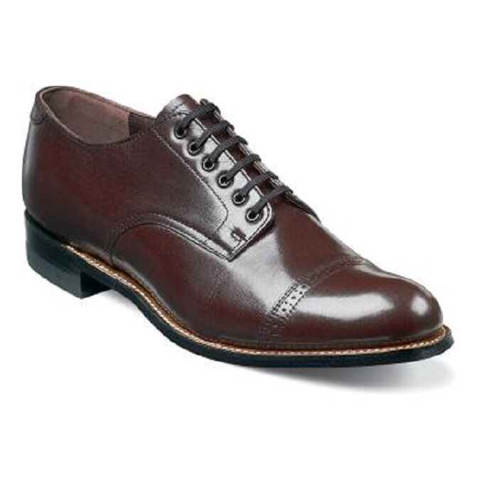 Burgundy And Black Cap Toe Shoe