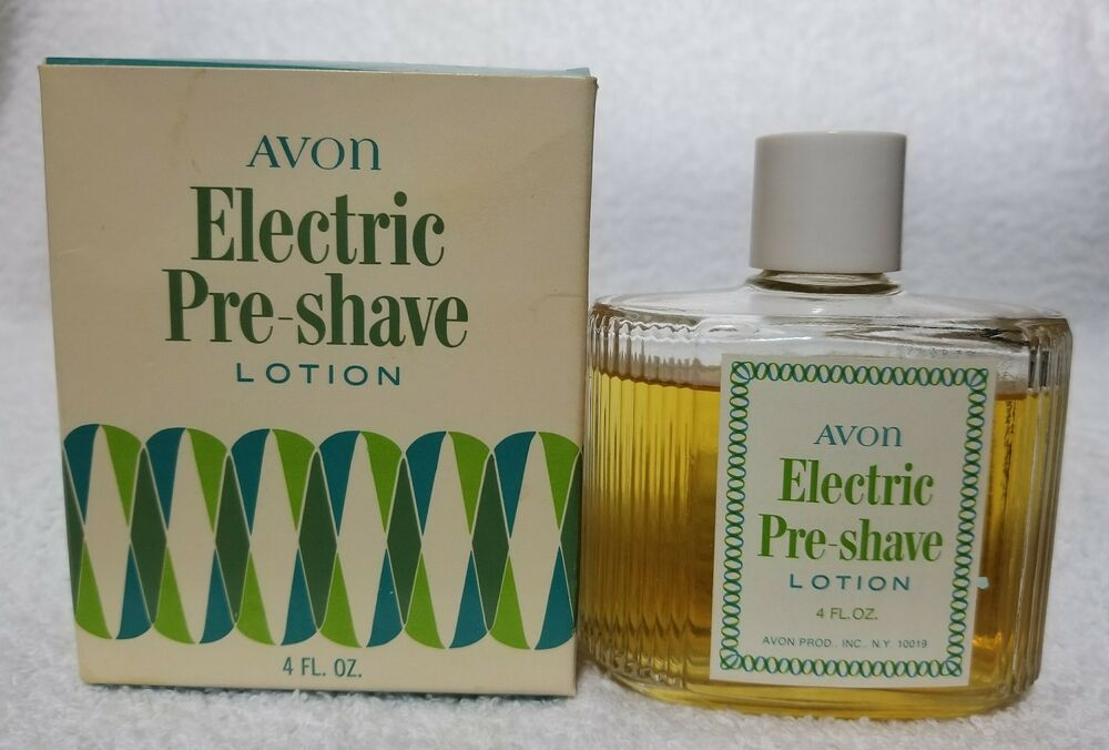 Avon Electric Pre Shave Lotion Softens Beard Men Vintage 4 Oz Used