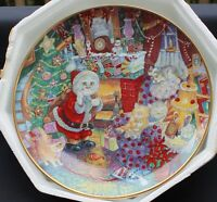 NIB Franklin Mint NOT A CREATURE WAS PURRING by Bill Bell Porcelain Plate