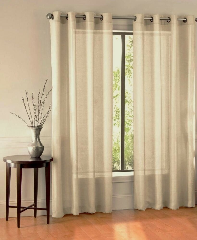 1 BRONZE 8 GROMMET SHEER WINDOW PANEL CURTAIN TREATME