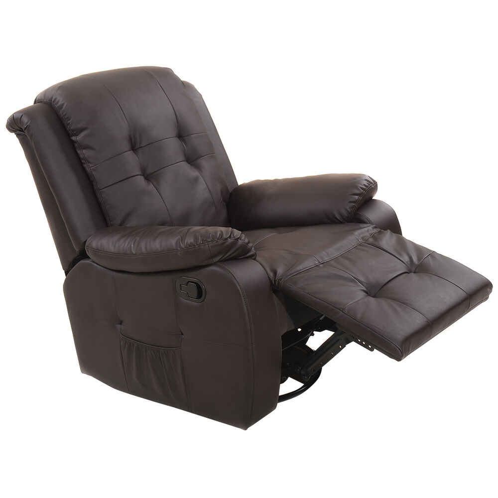 Ergonomic Tufted Recliner Massage Sofa Chair Lounge Executive Heated w Contr