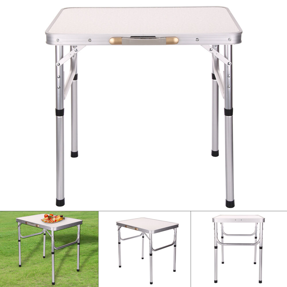 Folding portable camping picnic outdoor lightweight table caravan motor home ebay - Lightweight camping tables ...