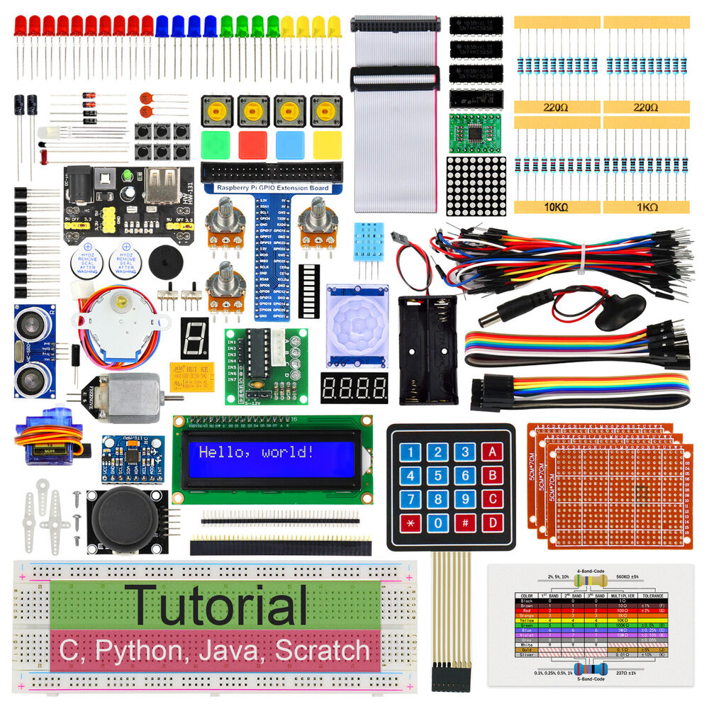 Freenove Ultimate Starter Kit For Raspberry Pi 3 2 B Python C Photoresistor And Led Experiment With Arduino Tutorial 11 Java Processing Ebay