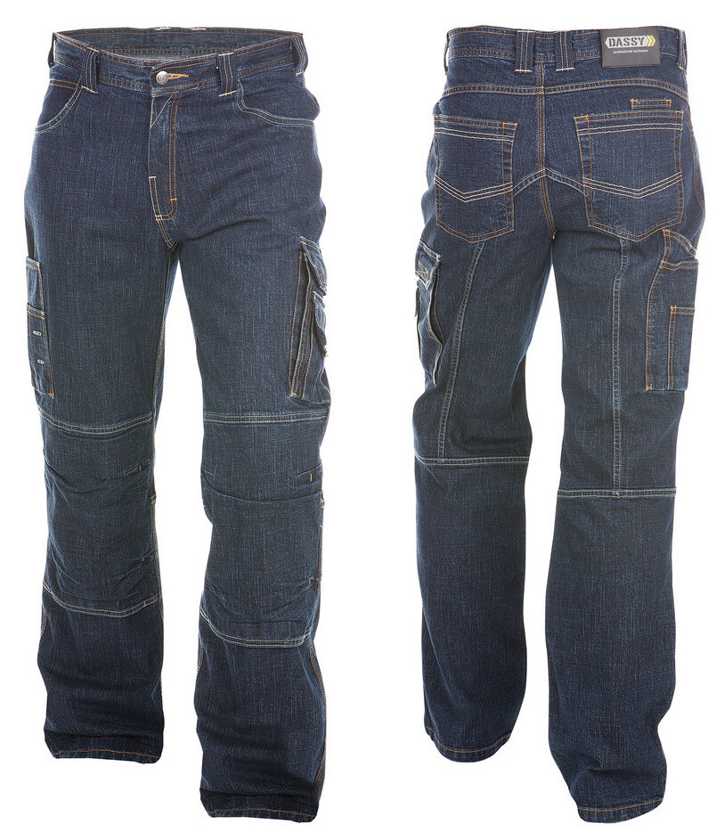 dassy knoxville herren jeans arbeitshose bundhose jeanshose in stretch aktion ebay. Black Bedroom Furniture Sets. Home Design Ideas