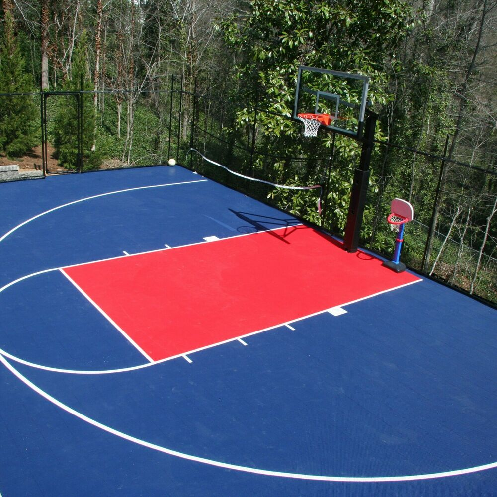 Incstores outdoor basketball volleyball sport soccer court for Basketball sport court cost