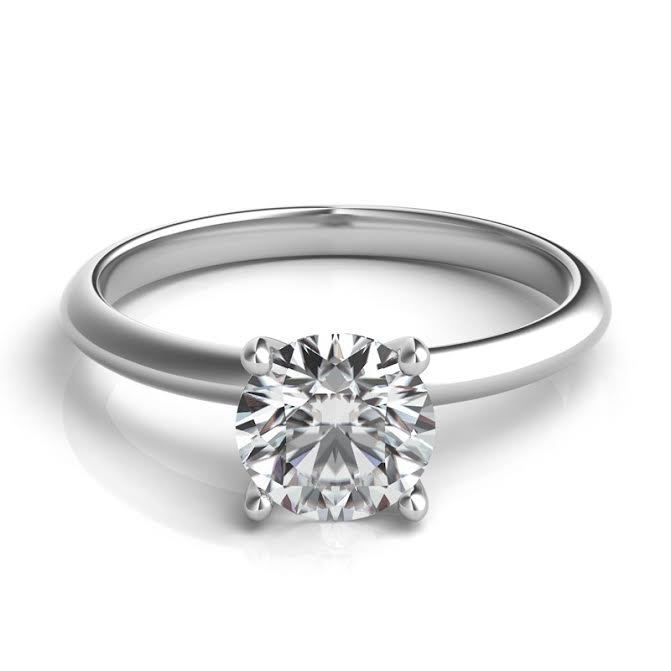 1 00ct Forever One Def Vvs2 Moissanite 4 Prong Solitaire