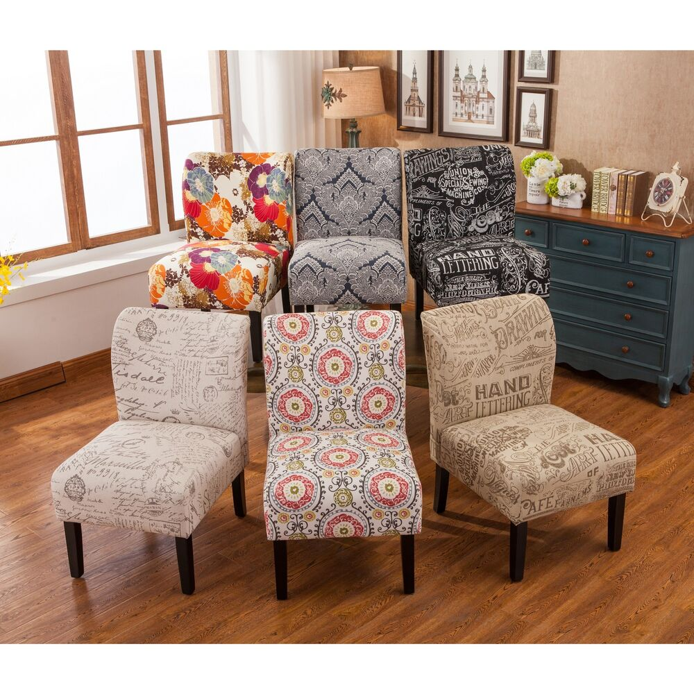 Capa Fabric Armless Contemporary Accent Slipper Chair Ebay