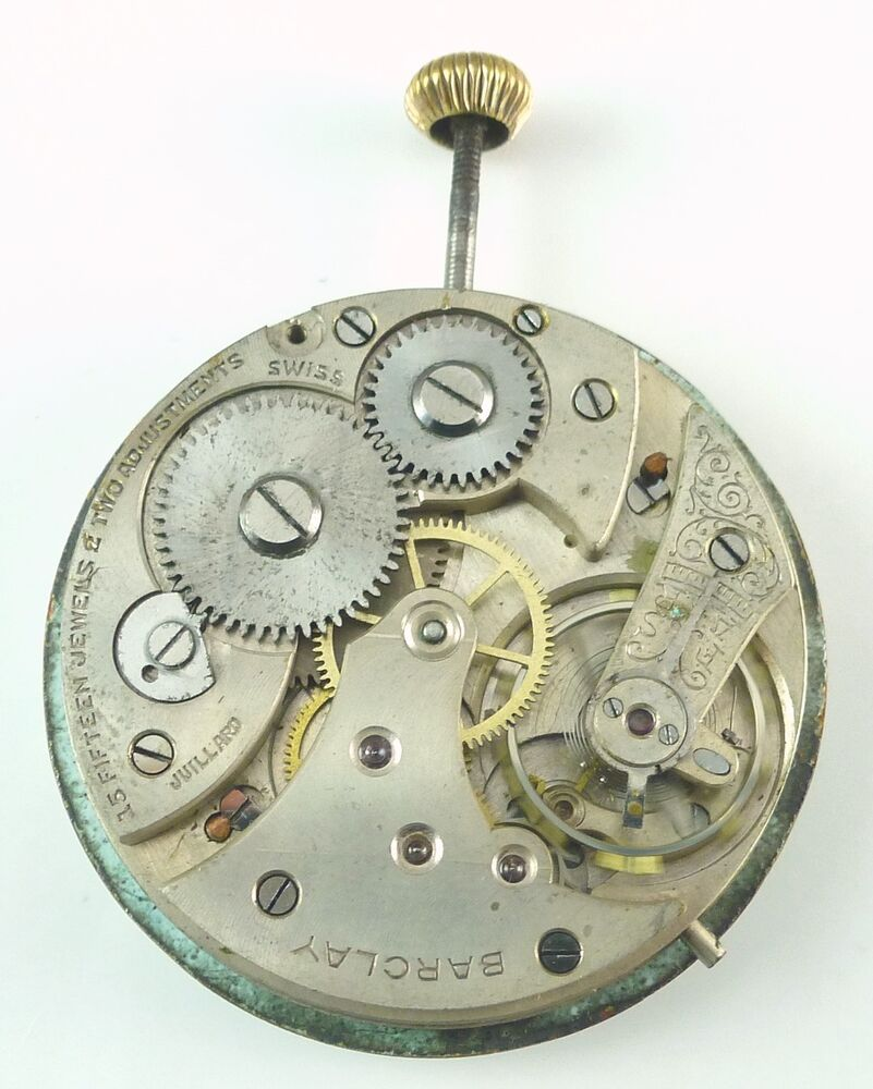 Barclay Watch Co. Pocket Watch Movement - Spare Parts ...
