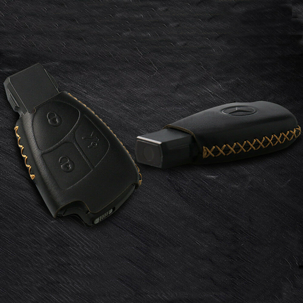 black leather remote key fob case holder cover case for