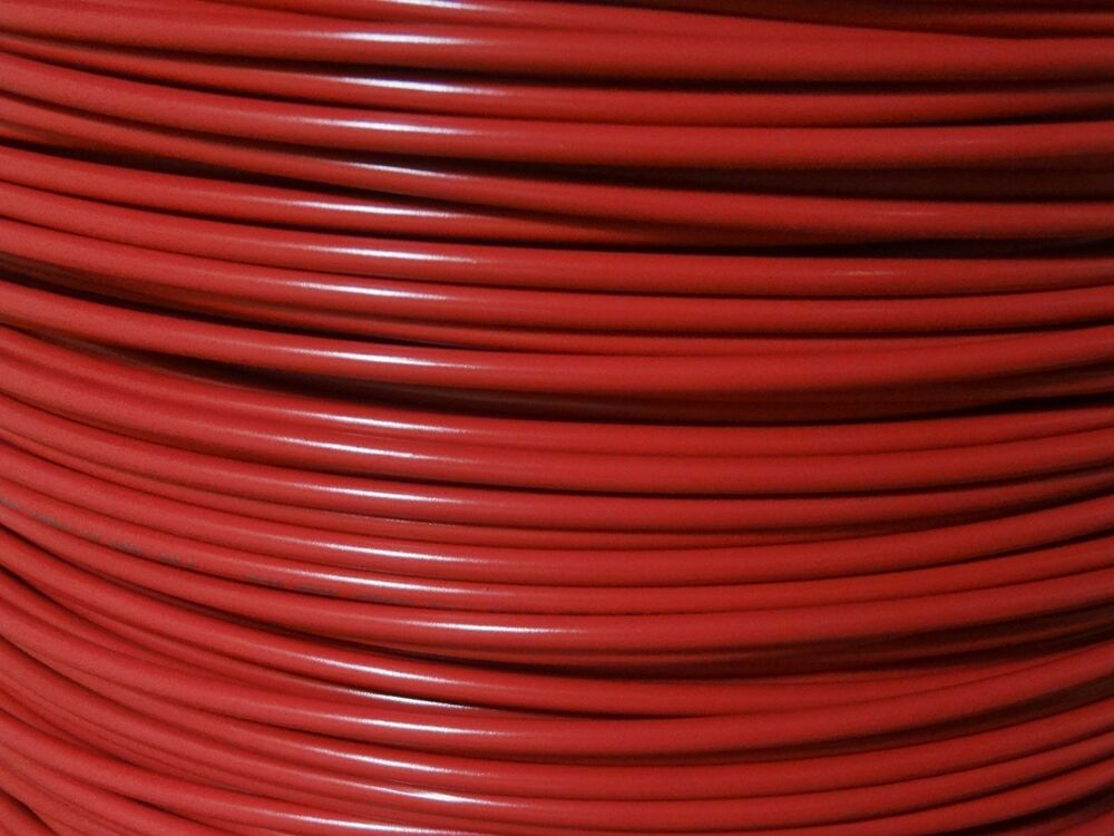 Stranded Copper Wire : Gauge wire red ft primary awg stranded copper power