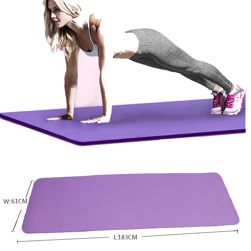 10MM Yoga Mat Exercise Thick Non-slip Gym Fitness Durable