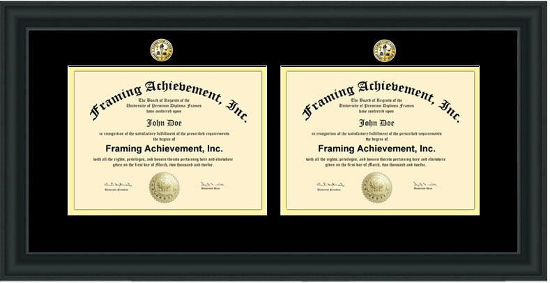 Two Certificate Frame Double Degree Diploma Frame